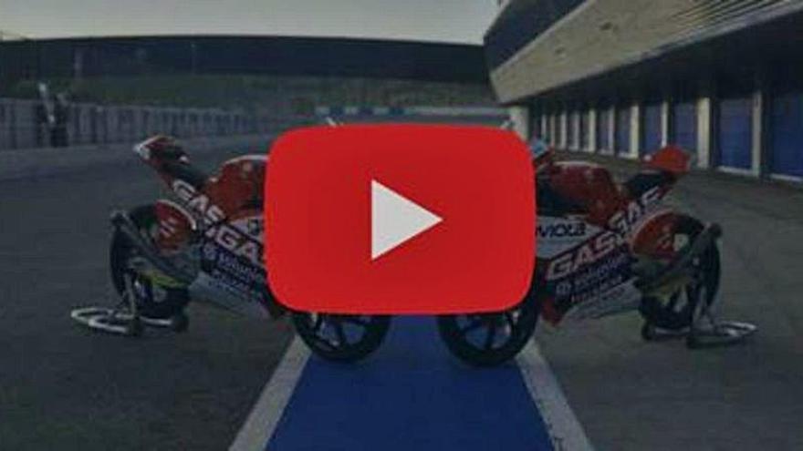 Vídeo: El Aspar Team acelera con Gas Gas