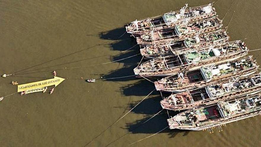 """Greenpeace, contra los """"saqueadores de océanos"""""""