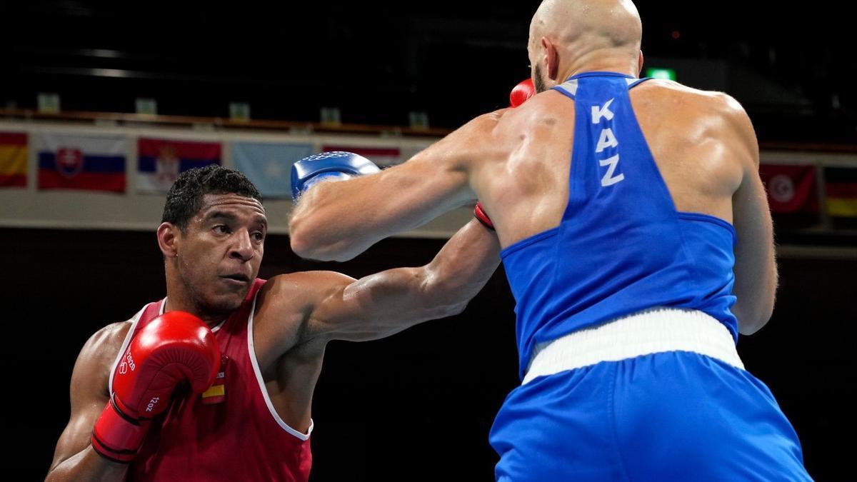 Enmanuel Reyes durante su primer combate en los Juegos.