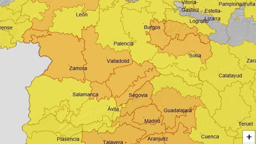 La ciclogénesis explosiva regresa a Zamora con avisos amarillo y naranja por vientos y lluvia