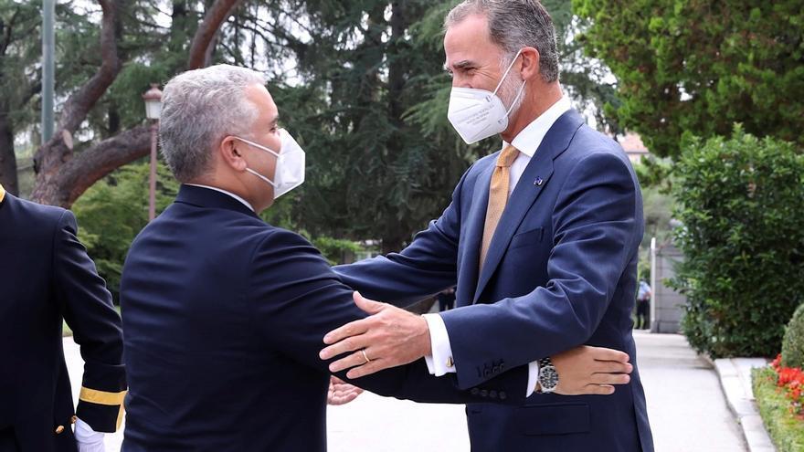 El Rey se reúne en Zarzuela con el presidente colombiano, Iván Duque