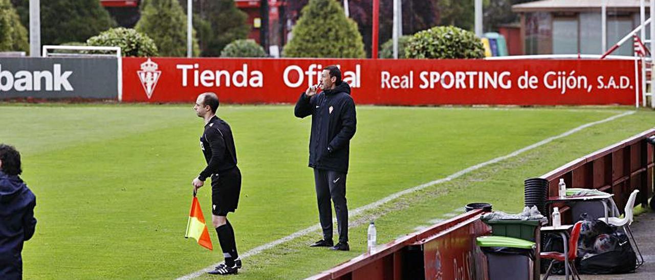 Sergio Sánchez, en un duelo de esta pretemporada.