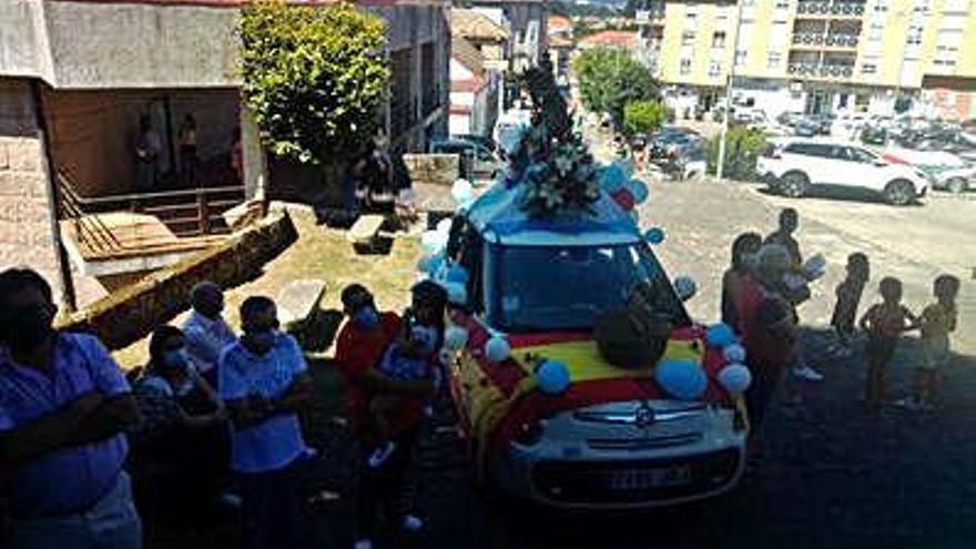 San Cristóbal bendice los vehículos en Gondomar