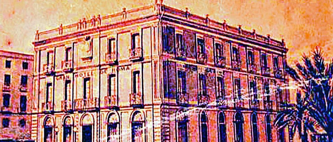 Tarjeta del Gran Hotel de Roma.