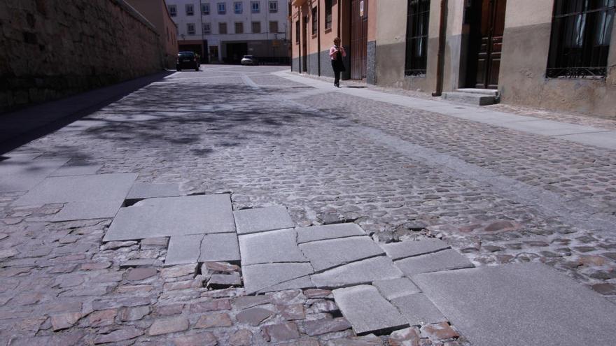 Pavimento del casco histórico.