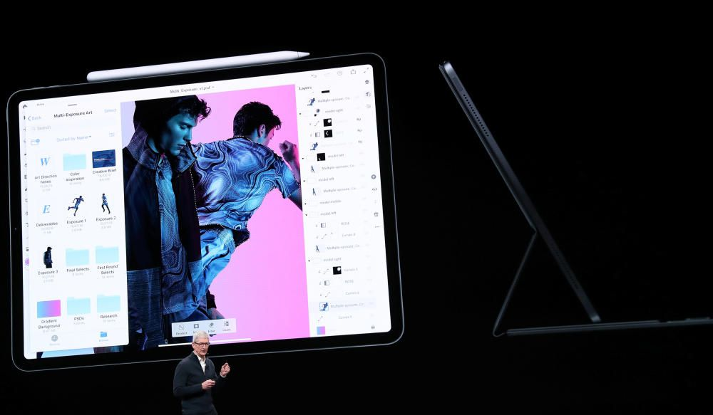 Apple CEO Tim Cook introduces the new iPad Pro ...