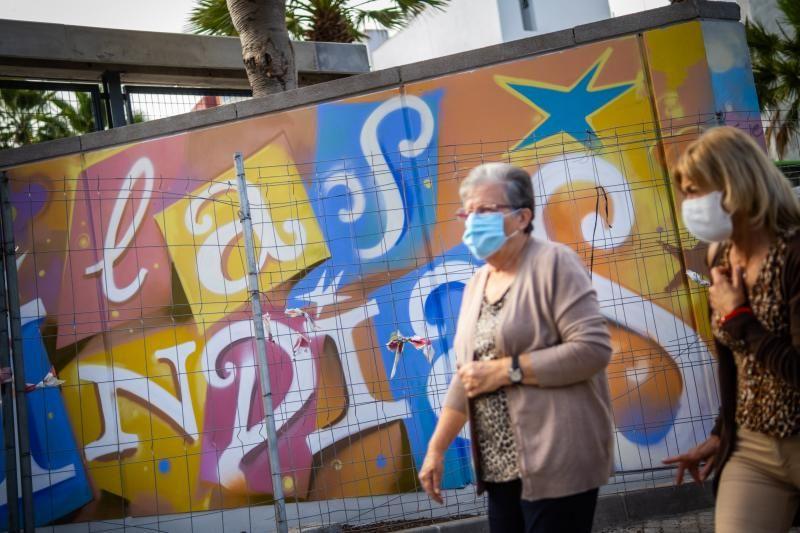 Murales y estado de las obras del Parque de Las Indias