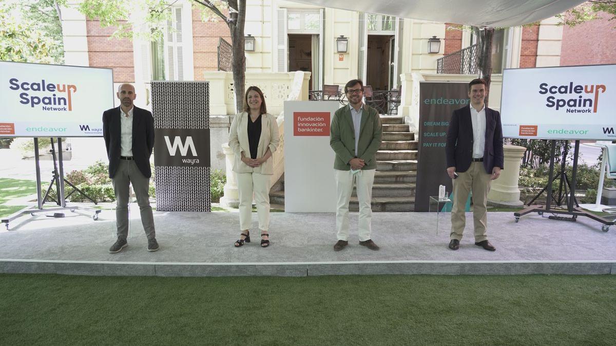 De izquierda a derecha: Javier Megías, Startup Program director en la Fundación Innovación Bankinter; Paloma Castellano, directora de Wayra Madrid; Juan Moreno Bau, managing director en la Fundación Innovación Bankinter; Antonio Iglesias, managing director de Endeavor Spain.