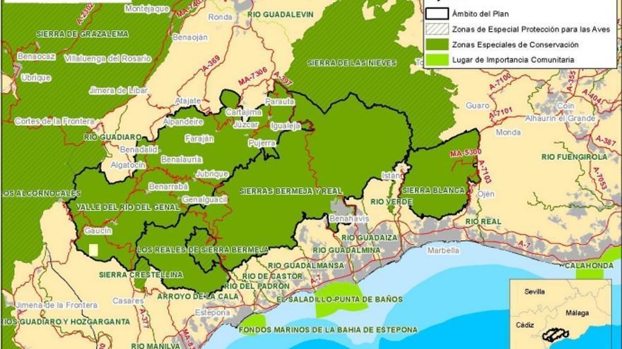 Arde Sierra Bermeja, una joya natural incluida en la Red Natura 2000