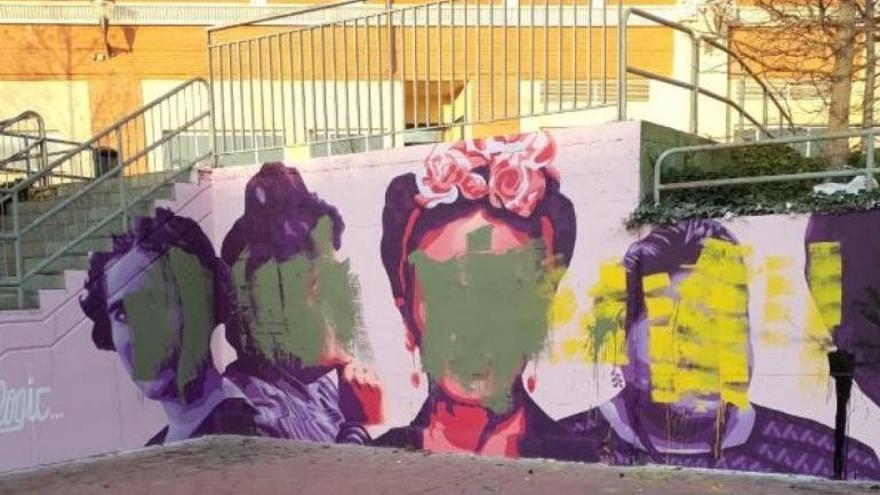 Atacan con pintura cuatro murales feministas en tres días en la Comunidad de Madrid