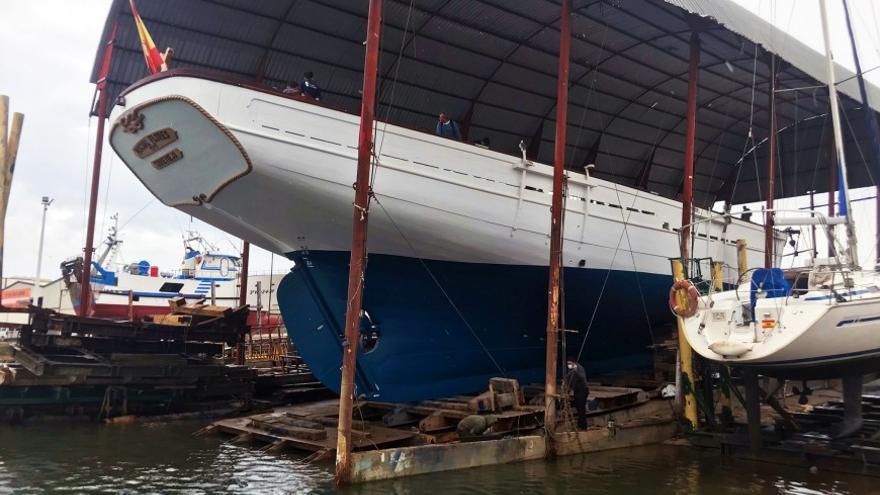 La Fundación Nao Victoria bota la réplica del pailebote Pascual Flores tras la restauración del casco