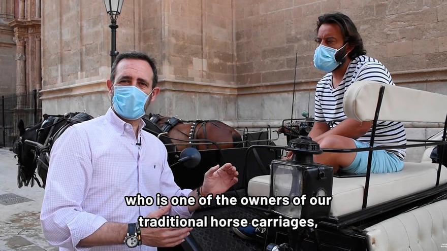 """Bauzà muestra en un vídeo la """"dramática situación"""" del turismo en Mallorca"""