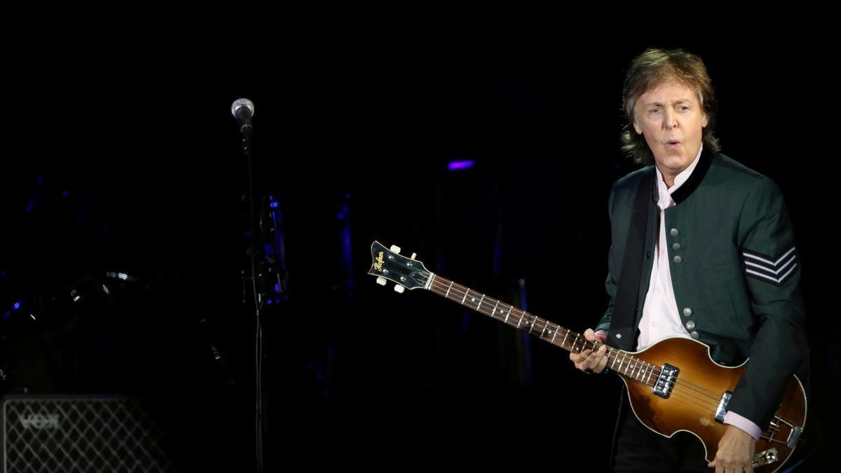 Paul McCartney, during a concert