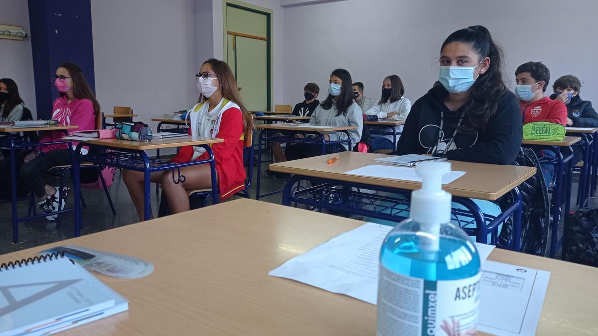 Alumnos en una clase asturiana