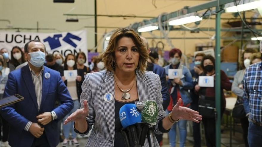 Susana Díaz pide a Ferraz el adelanto de primarias en el PSOE andaluz