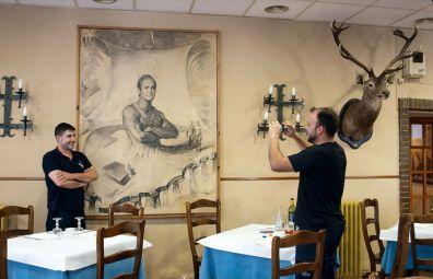 Estuvo colgado en el restaurante Gabás de Borja