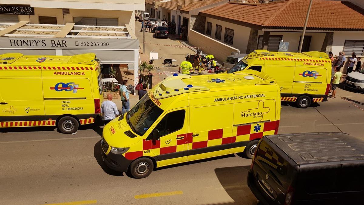 Ambulancias en la zona del accidente
