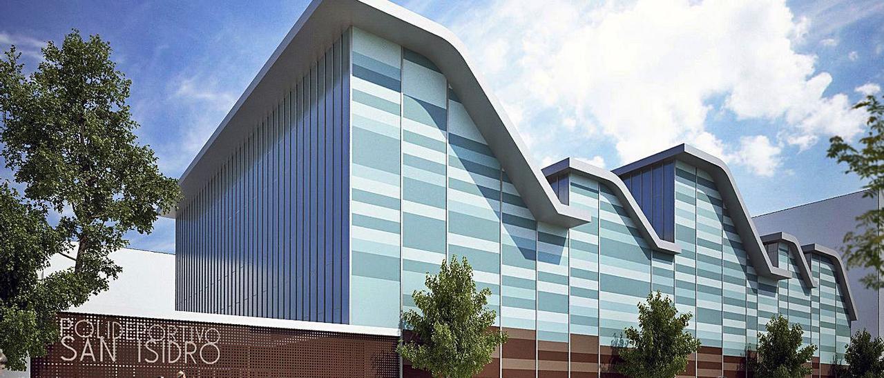 La fachada del polideportivo destaca por sus líneas modernas.    LEVANTE-EMV