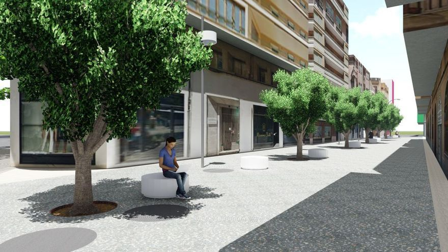 Cort reurbanizará parte de la calle Miquel Costa i Llobera con más árboles y farolas