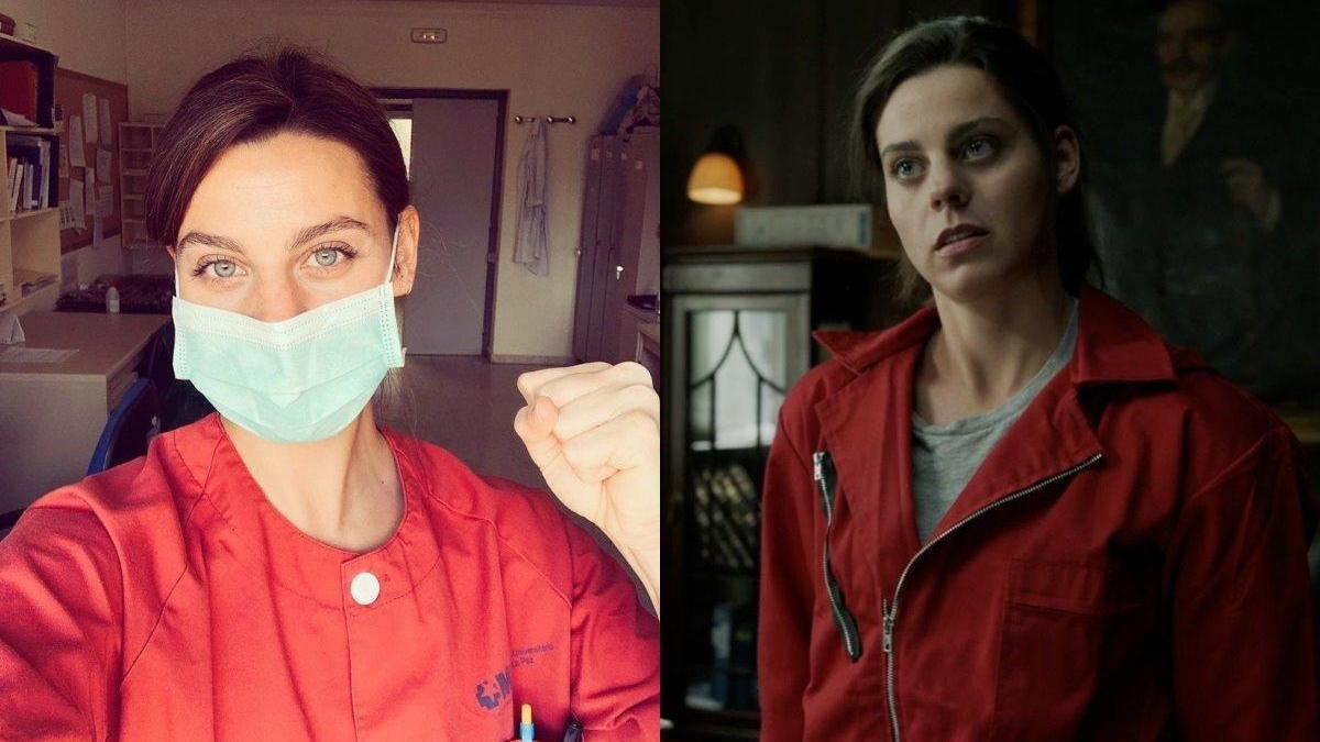 Clara Alvarado, la actriz de La casa de papel que trabaja como enfermera.