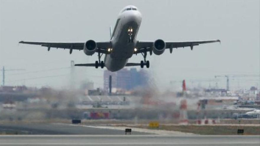 Culpa al estrés de cuidar a los niños tras golpear a la tripulación de un avión