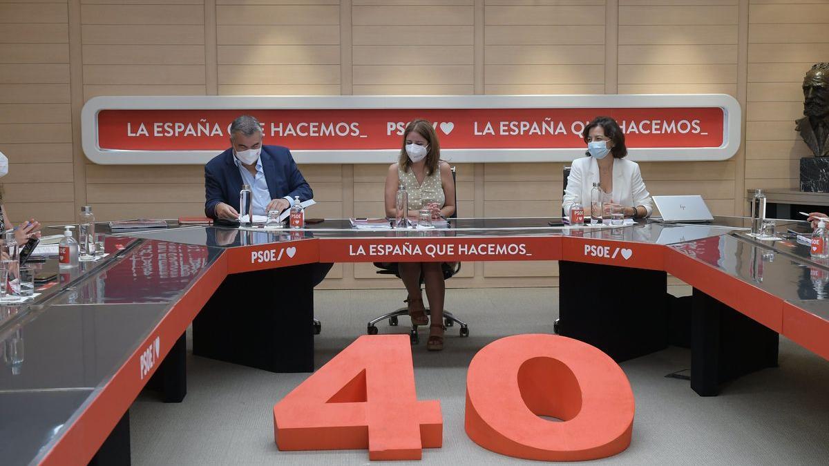 Una reunión de la cúpula del PSOE.