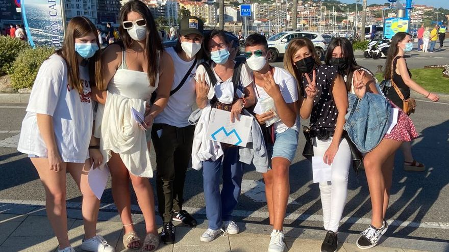 Fans de Yatra desplazados desde Vilagarcía al concierto.