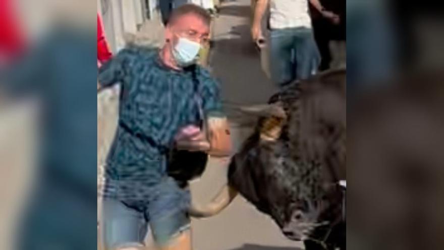 Herido un joven de 34 años por asta de toro en el encierro de Almassora