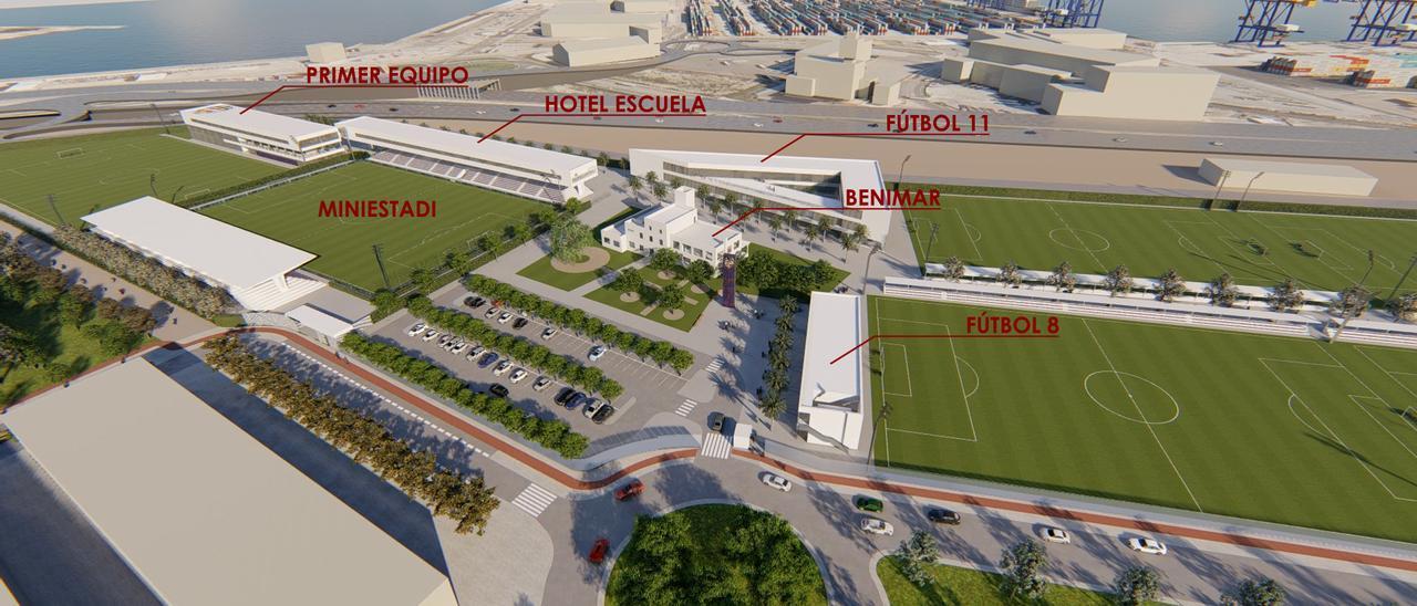 Nueva ciudad deportiva del Levante UD en Nazaret.