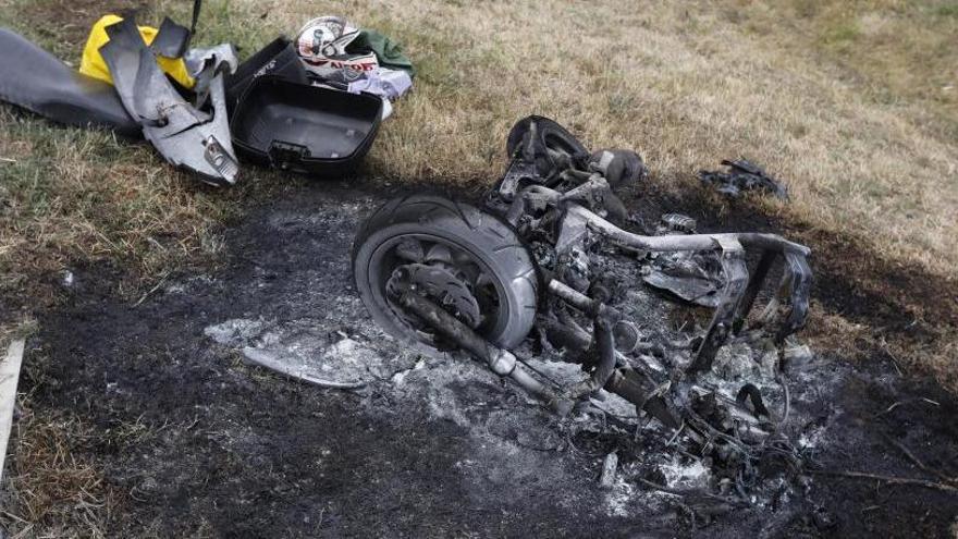 Mor un motorista en un xoc frontal amb un cotxe a la C-250 a Quart