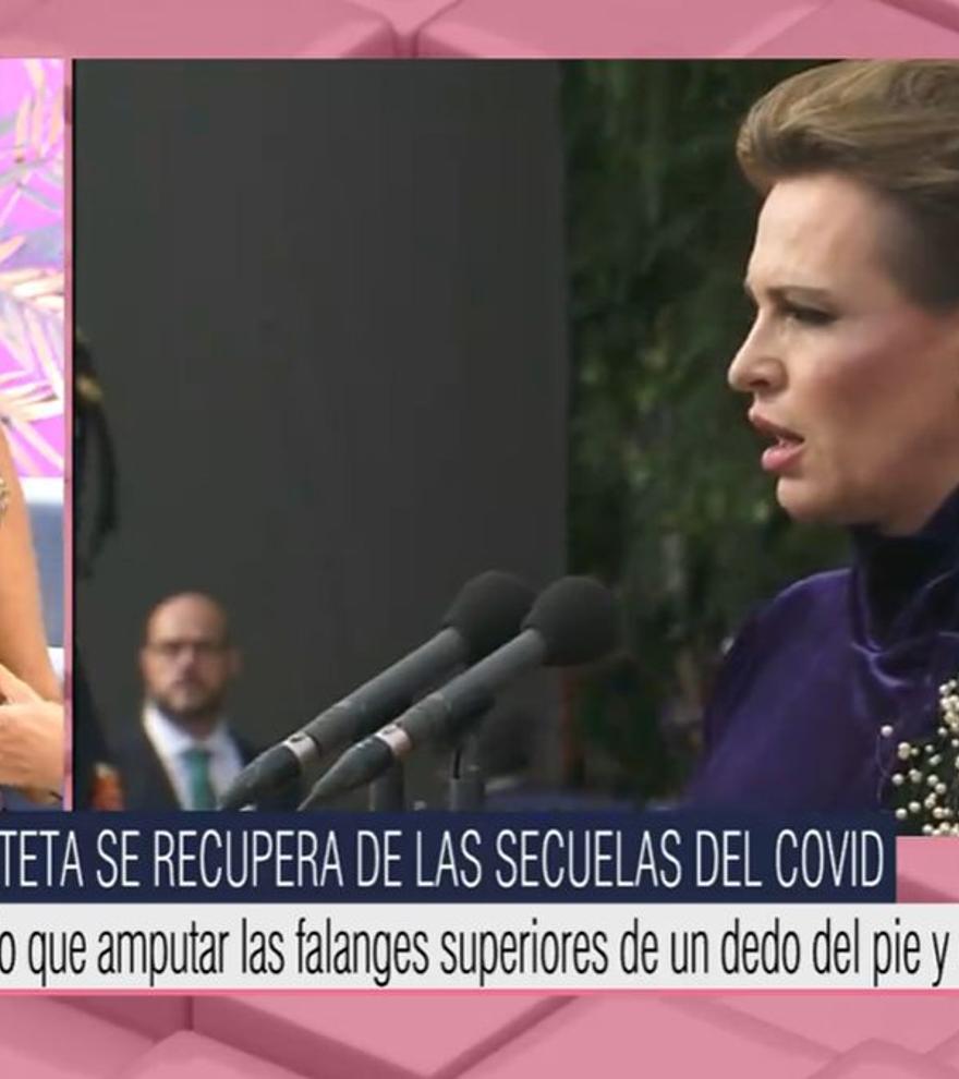"""Ana Rosa informa del estado de salud de Ainhoa Arteta y aclara: """"No ha sufrido un infarto"""""""