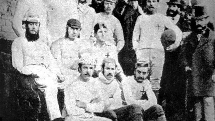 El primer partido de fútbol de la historia