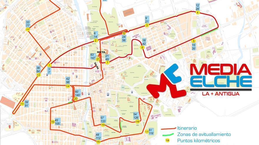 Cerca de 2.200 atletas disputan este domingo el Medio Maratón de Elche