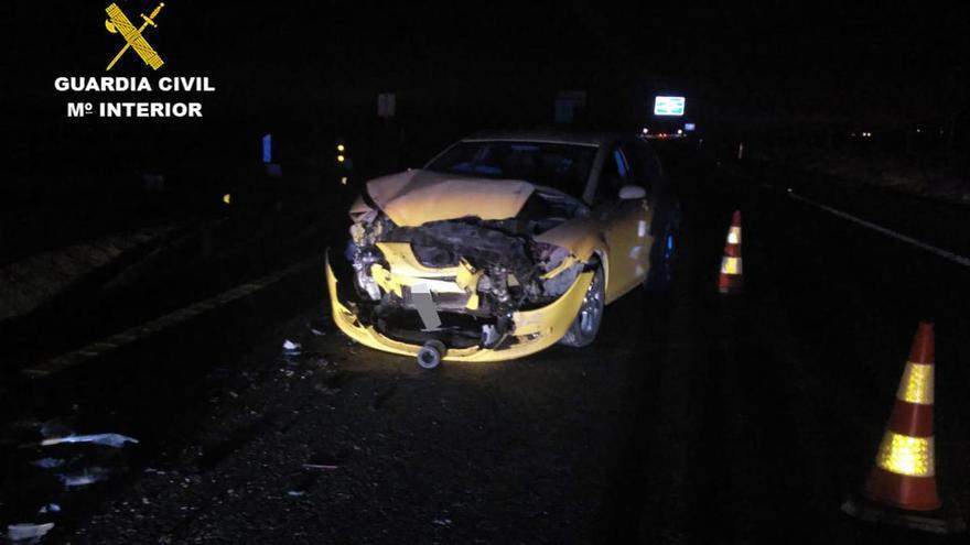 Provoca un accidente al conducir en sentido contrario y borracho en Mazarrón