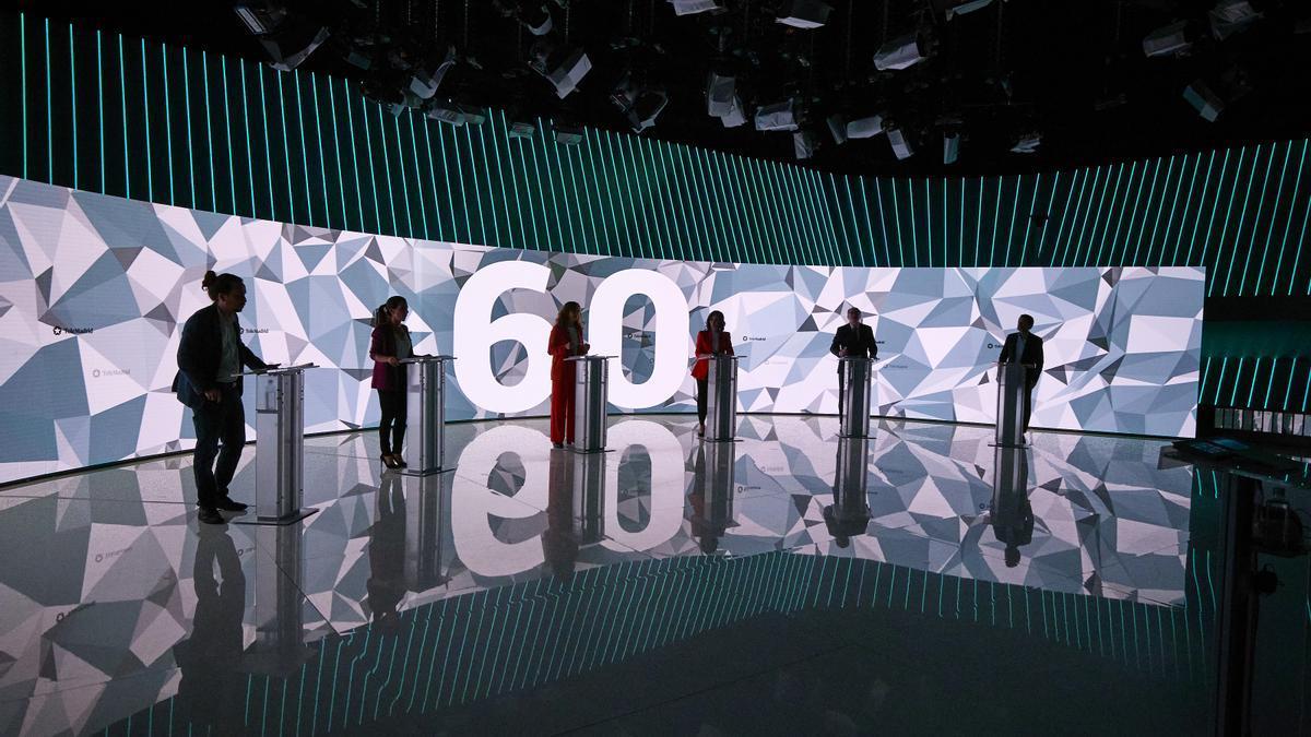 Los candidatos en las elecciones madrileñas.