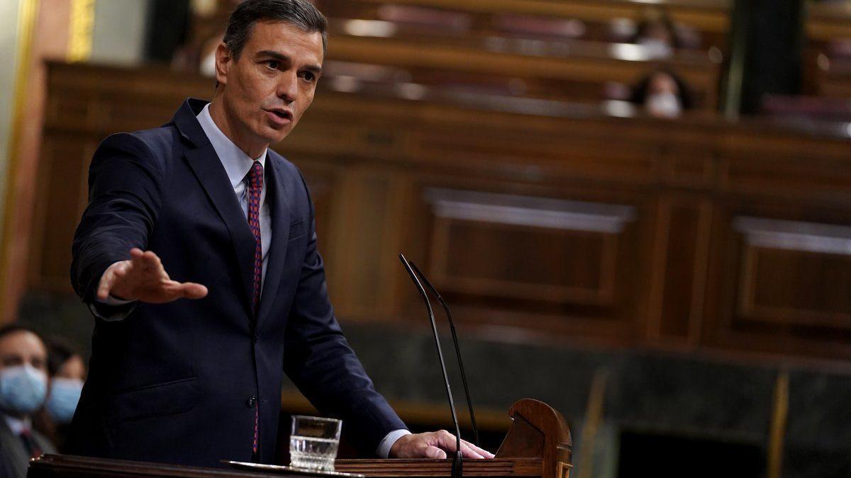 Pedro Sánchez en un sessió al Congrés dels Diputats