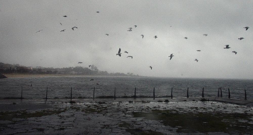 Entrada del temporal en O Morrazo.