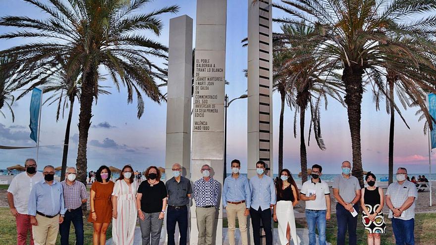 Alboraia restaura el monument 'Homenatge a Tirant lo Blanch'