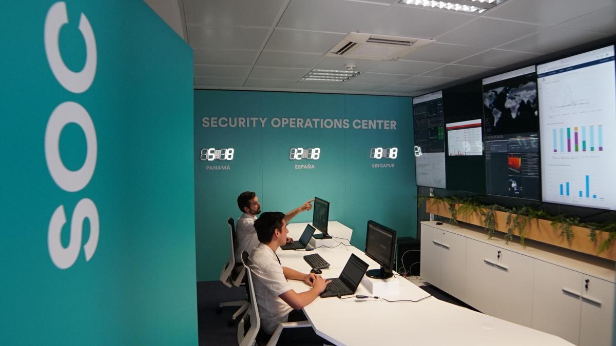 Centro de operaciones de seguridad de Sofistic en el Espaitec de la UJI de Castellón.