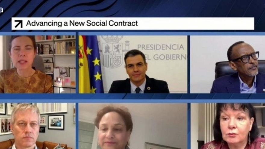 Sánchez presenta en Davos su plan de reformas como base de un nuevo contrato social