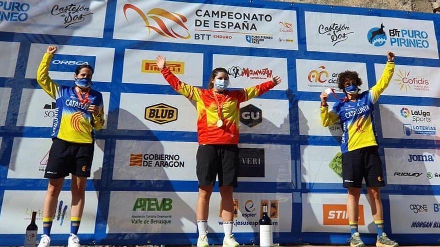 Sara Yusto se proclama campeona de España de Enduro ciclista