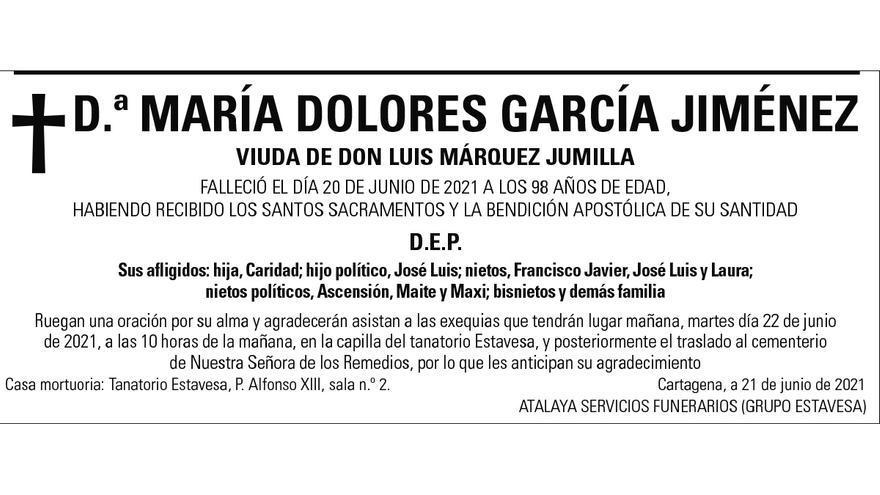 Dª María Dolores García Jiménez