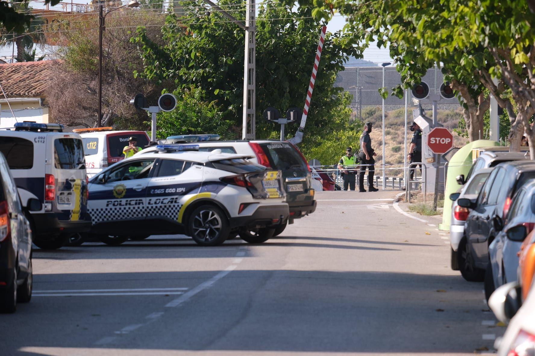 Fotos de la Estación de Novelda donde se ha producido el accidente.
