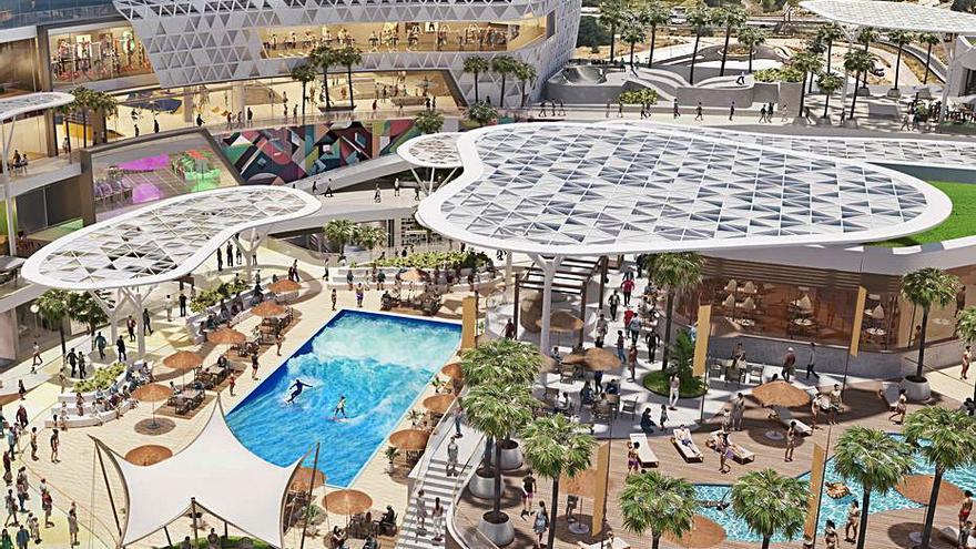 El nuevo centro comercial Infinity en València tendrá la piscina de ola continua más grande de España