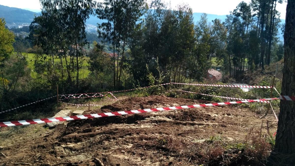 """La considerada """"zona cero"""" de tierra contaminada por lindano en Porriño. //Eurorrexión"""