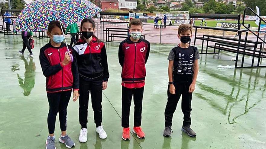 Los pequeños del Atletismo A Estrada, en el Autonómico
