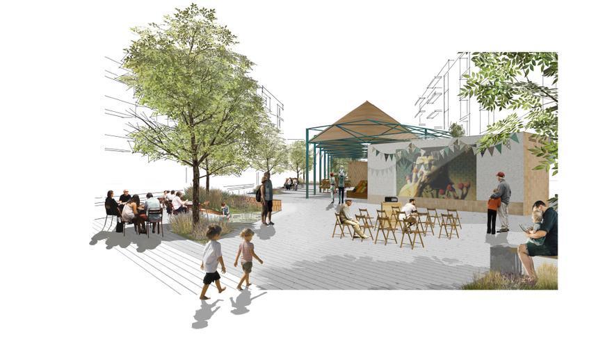Así será el nuevo mercado de la huerta de Castellar-L'Oliveral