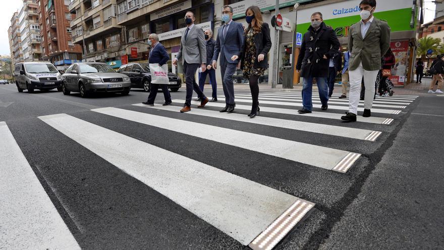 La capital murciana estrena los primeros Pasos de Peatones Inteligentes