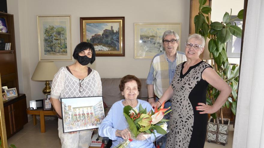 Homenatge a la centenària manresana Maria Vila Seubas