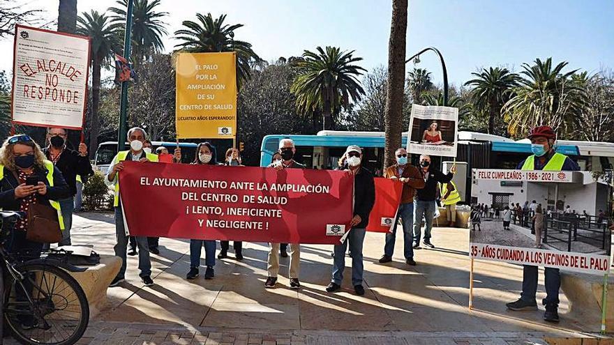 Protesta delante del Ayuntamiento de Málaga en marzo de este año